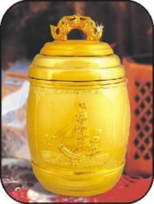 南京精美镀金茶叶罐