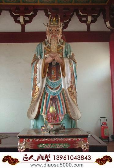 供应木雕彩绘佛像龙王像