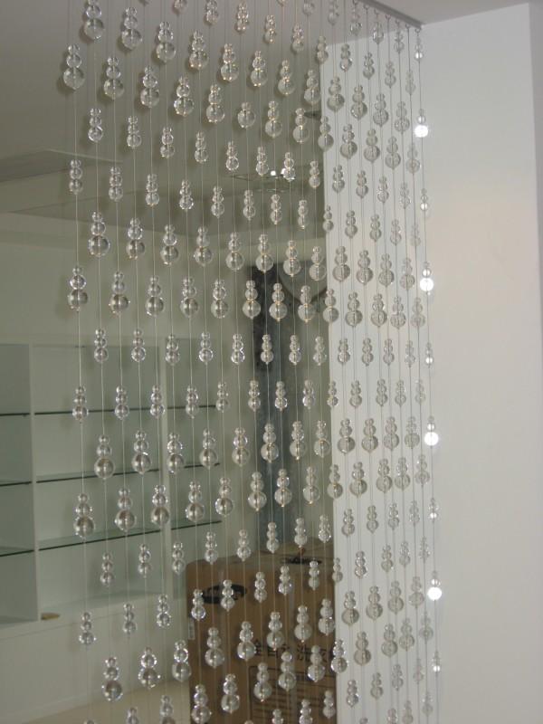 珠帘壁纸 客厅珠帘隔断效果图 珠帘装饰