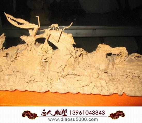 木雕动物模型图片