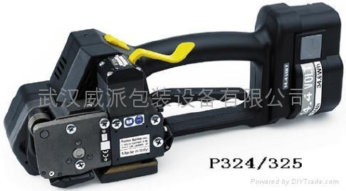 供应FROMM P324充电式免扣PET带打包机