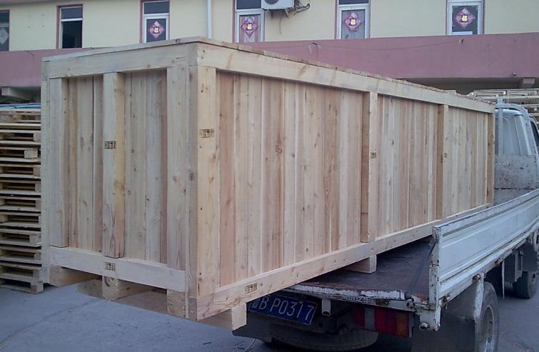 免熏蒸木质包装箱图片  生产厂家:                          青岛