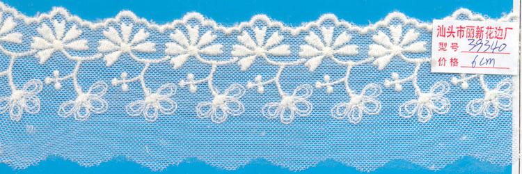 棉线网布花边图片