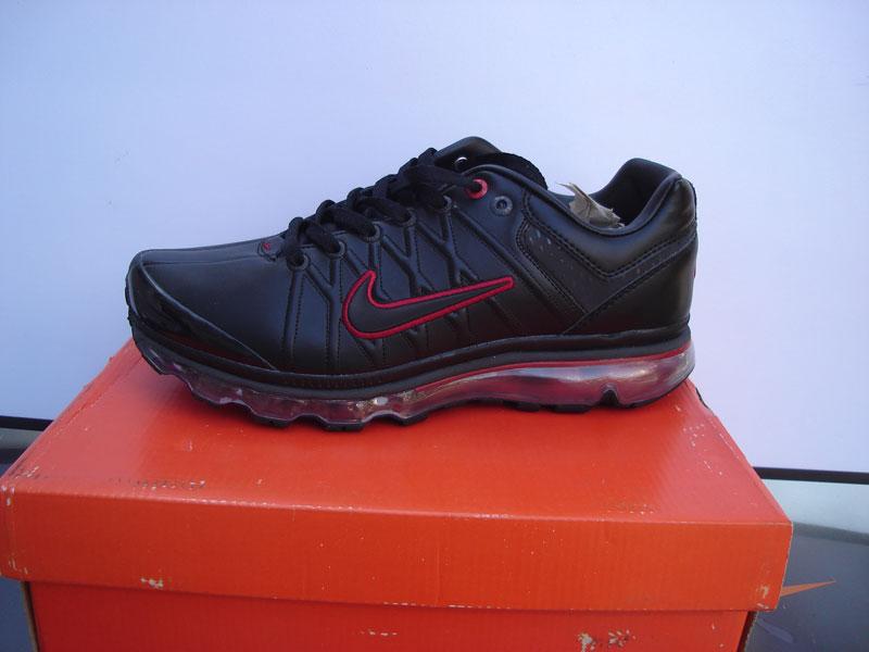 供应耐克2009皮面气垫运动鞋黑红