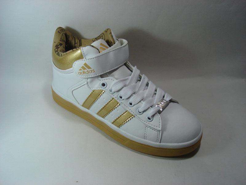 adidas图片|adidas样板图|adidas0986金色运动鞋