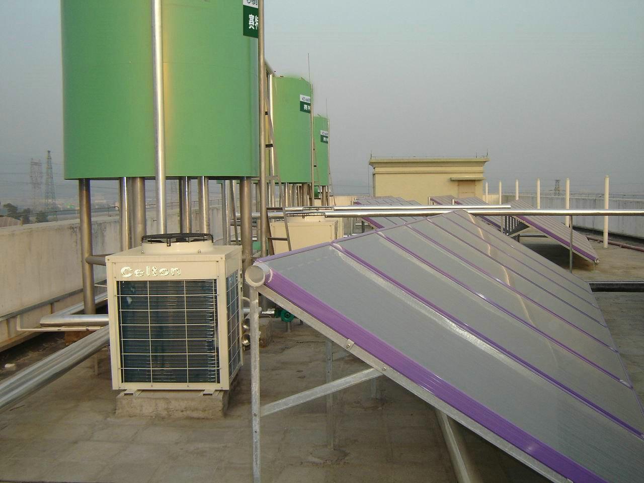 供应太阳能加空气能热水工程