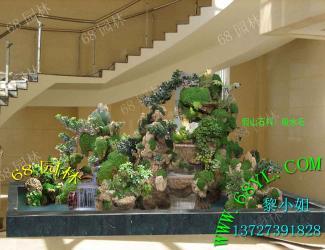 供应吸水石假山制作效果图,入户花园假山水池制作效果图图片大全