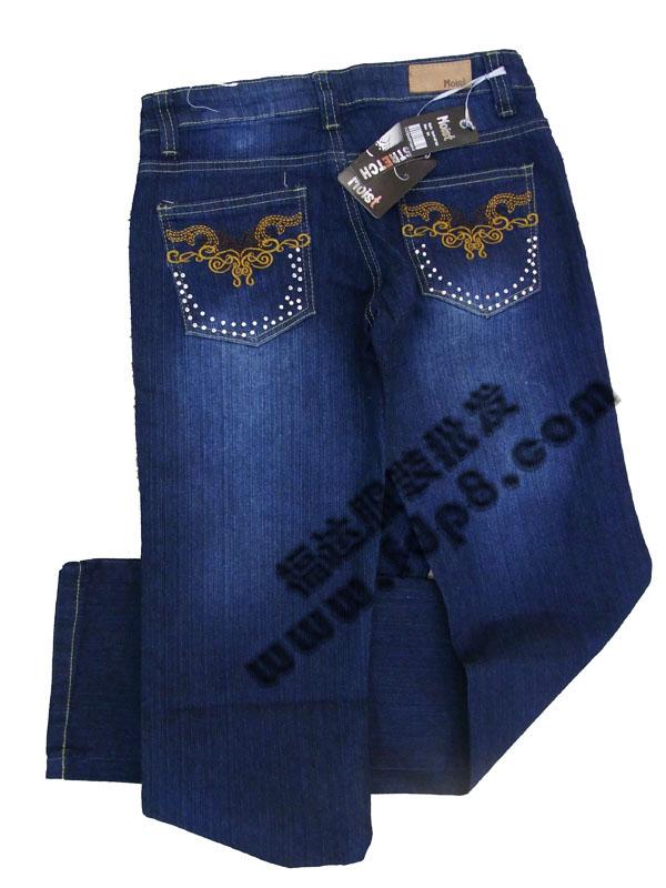 女式外贸原单库存牛仔裤