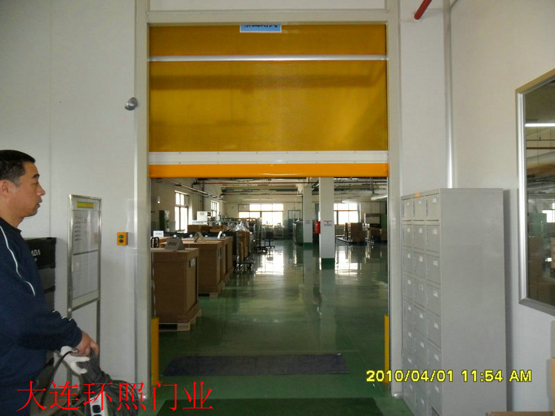 供应大连PVC透明快速卷帘门高速卷门图片