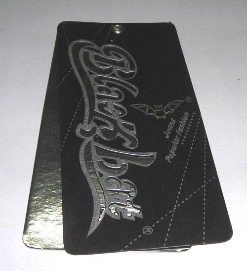 铜版纸吊牌黑卡吊牌