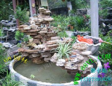 供应千层石假山水池
