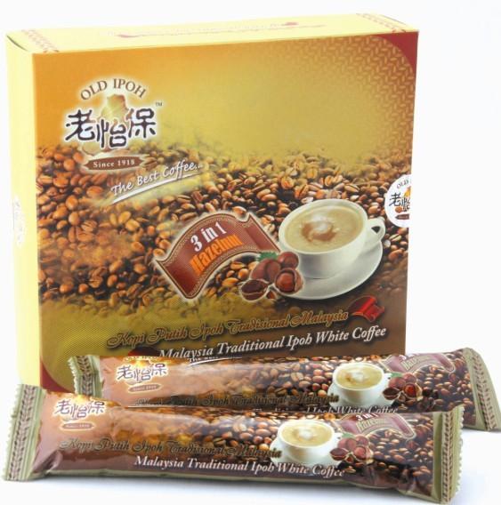供应老怡保白咖啡马来西亚榛果味