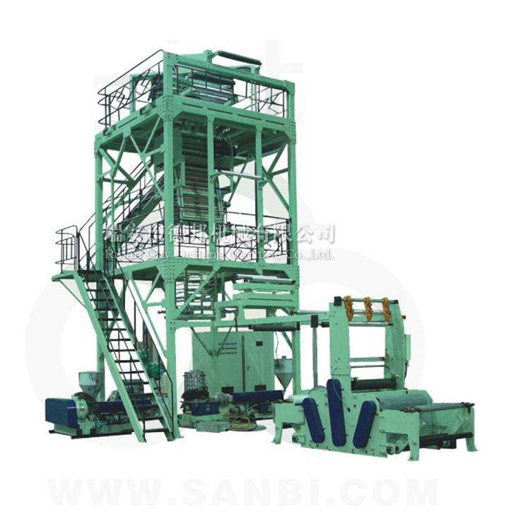 供应MSJ-GS系列多层共挤包装薄膜吹膜机 、薄膜吹膜机
