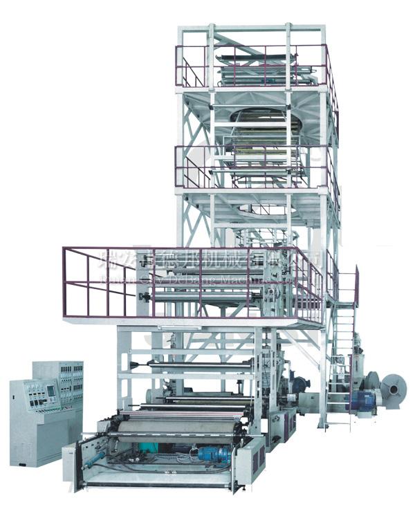 供应三至五层共挤薄膜吹塑机组 (IBC 膜泡内冷型